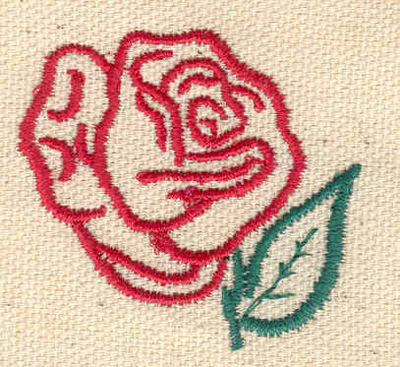 Embroidery Design: Rose A 1.80w X 1.65h