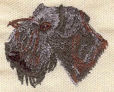 Embroidery Design: Terrier head 2.10w X 1.80h