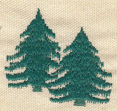 Embroidery Design: Evergreens E 2.10w X 2.00h