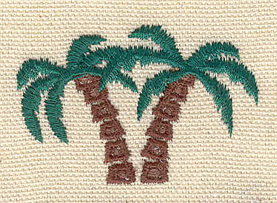 Embroidery Design: Palm trees A 2.10w X 1.40h