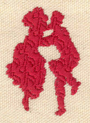 Embroidery Design: Swing dancers 1.40w X 2.00h