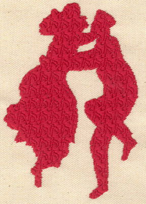 Embroidery Design: Swing dancers large 3.40w X 4.90h