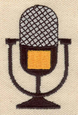 Embroidery Design: Microphone 1.60w X 2.50h