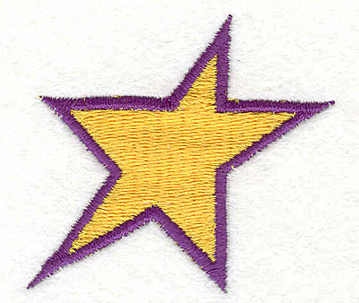 "Embroidery Design: Star 2.40""w X 2.10""h"