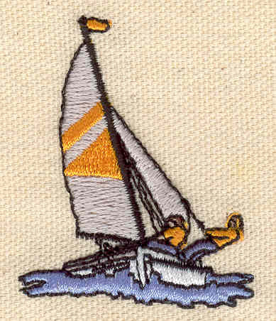 Embroidery Design: Wind surfer 1.70w X 2.10h