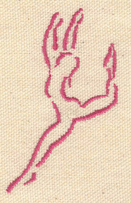 Embroidery Design: Ballet dancer B small 1.70w X 2.70h