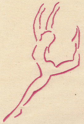 Embroidery Design: Ballet dancer B large 4.00w X 6.50h