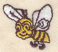 Embroidery Design: Bee 0.85w X 0.80h