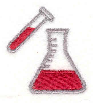 Embroidery Design: Beaker & Test Tube 1.50w X 1.40h