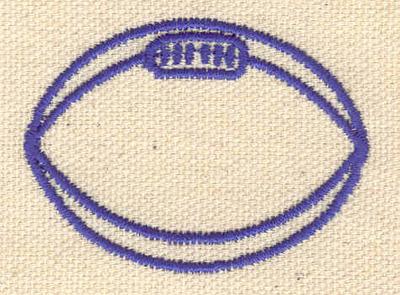 Embroidery Design: Football B 2.00w X 1.50h