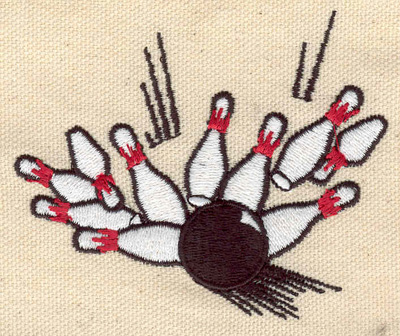 Embroidery Design: Bowling strike 3.30w X 2.75h