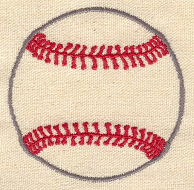 Embroidery Design: Baseball a 3.10w X 3.10h