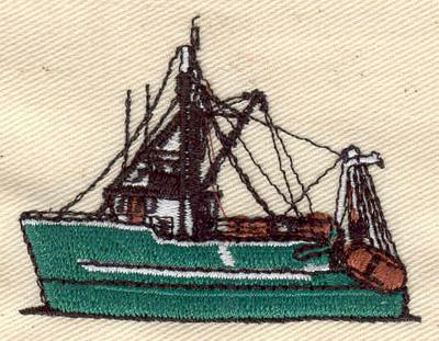 Embroidery Design: Boat 2.45w X 1.90h