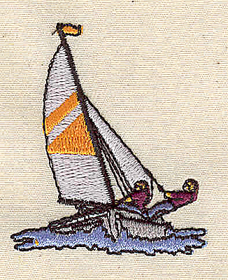 Embroidery Design: Sailboat 1.70w X 2.10h