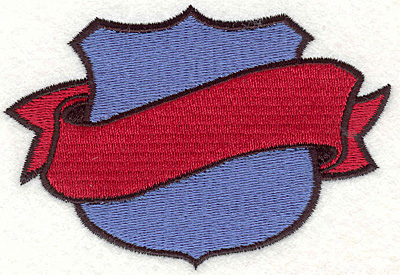 """Embroidery Design: Shield & Banner 12.50"""" x 3.70"""""""