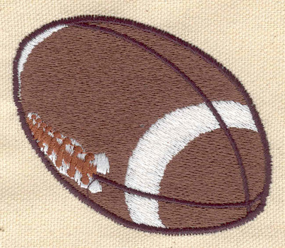Embroidery Design: Football C 3.00w X 2.50h