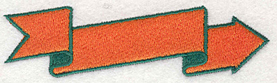 """Embroidery Design: Arrow Shaped Banner1.10"""" x 4.00"""""""