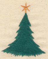 Embroidery Design: Christmas tree 2.30w X 3.10h