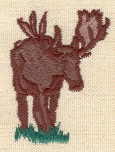 Embroidery Design: Moose 1.90w X 2.50h
