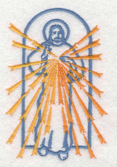 "Embroidery Design: Jesus 2.35""w X 3.50""h"
