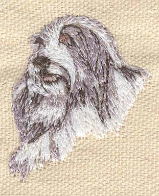 Embroidery Design: Dog C 1.40w X 1.70h