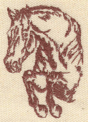 Embroidery Design: Horse leaping 1.85w X 2.70h