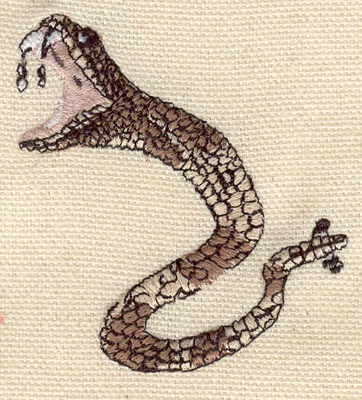 Embroidery Design: Rattlesnake 2.15w X 2.35h