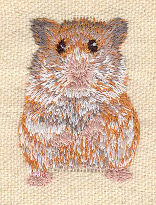 Embroidery Design: Hamster 1.25w X 1.80h