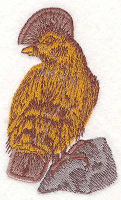 Embroidery Design: Bird on rock 3.40w X 2.00h
