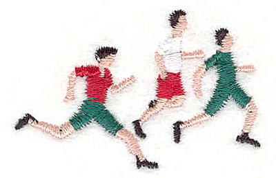 "Embroidery Design: Runners 1.90"" w X 1.20""h"