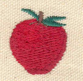 Embroidery Design: Apple 1.00w X 1.00h