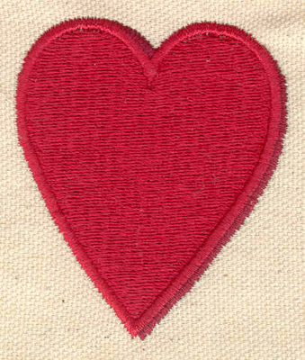 Embroidery Design: Heart 2.15w X 2.50h