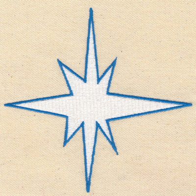 Embroidery Design: North Star 5.20w X 5.00h