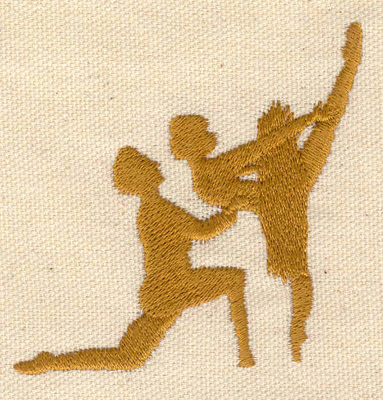 Embroidery Design: Ballet dancers 2.85w X 2.75h