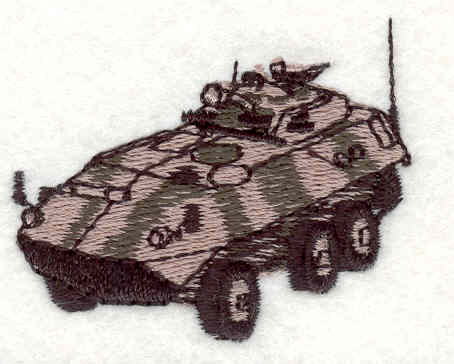 Embroidery Design: Military Vehicle 1.60w X 2.00h
