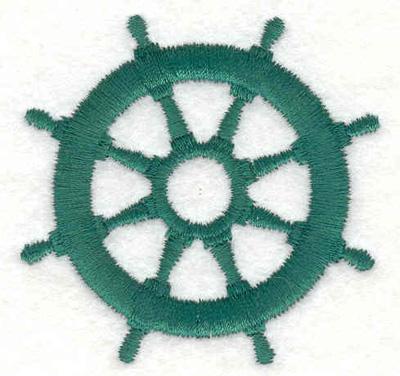 "Embroidery Design: Ship wheel B 2.20""w X 2.20""h"
