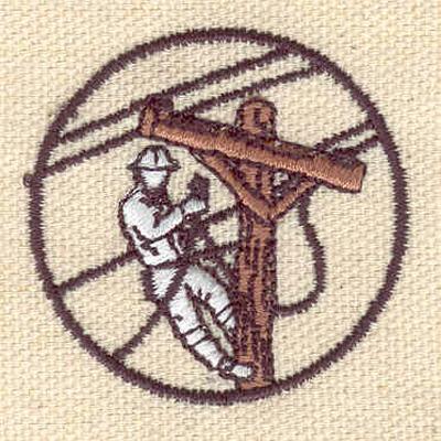 Embroidery Design: Telephone lineman 1.65w X 1.60h