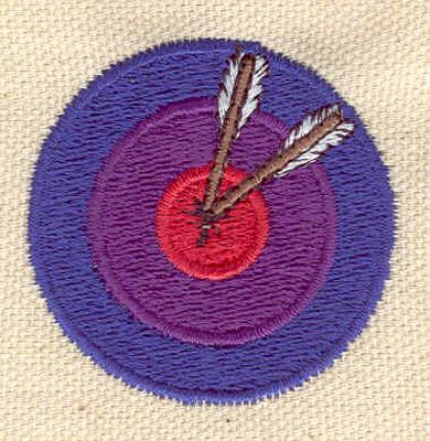 Embroidery Design: Bullseye with arrows 1.65w X 1.65h