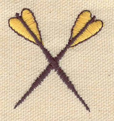 Embroidery Design: Darts crossed 1.45w X 1.50h