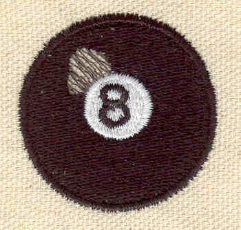 Embroidery Design: 8 Ball small 1.50w X 1.50h