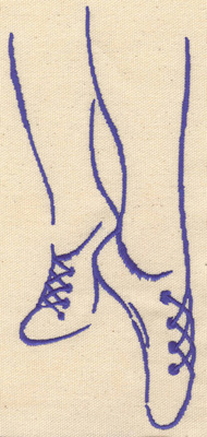 Embroidery Design: Ballet slippers  3.45w X 7.50h