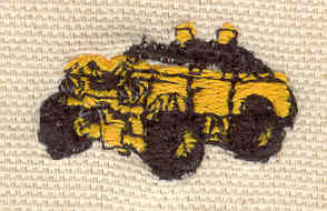 Embroidery Design: Dune Buggy 1.15w X 0.65h