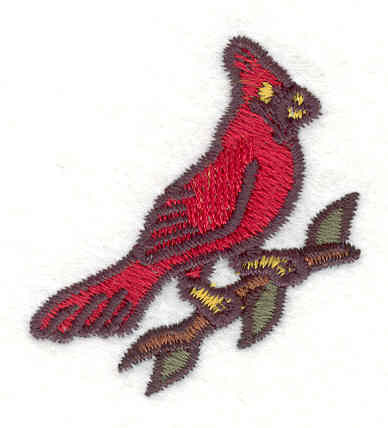 "Embroidery Design: Cardinal 11.80"" x 1.60"""