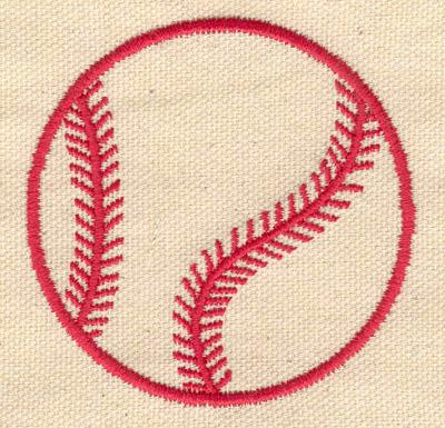 Embroidery Design: Baseball c 2.70w X 2.70h