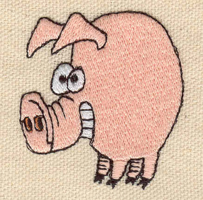 Embroidery Design: Pig  1.80w X 1.90h