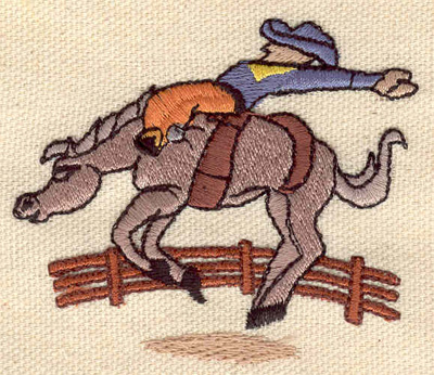 Embroidery Design: Rodeo rider 2.60w X 2.30h