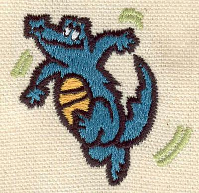 Embroidery Design: Crocodile comical 1.88w X 1.89h