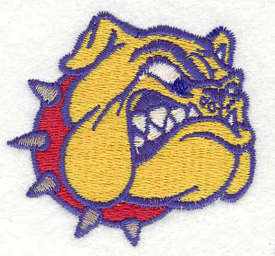 """Embroidery Design: Bulldog F2.22"""" x 2.40"""""""