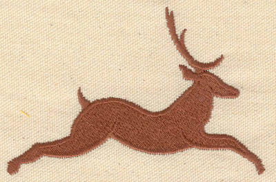 Embroidery Design: Deer leaping 3.98w X 2.58h