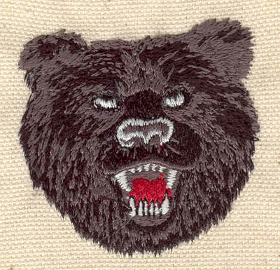 Embroidery Design: Bear head A 2.00w X 2.00h